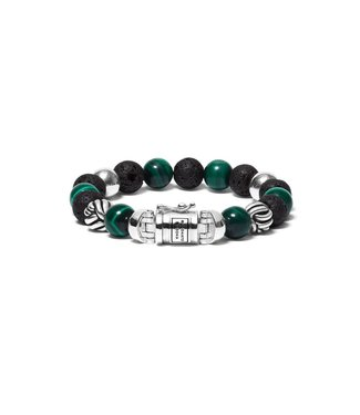 Buddha to Buddha Bracelet Spirit Bead Mix Malachite F 21cm