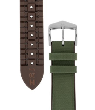 Hirsch Horlogebandje Arne Kalfsleer + Premium Caoutchouc (Rubber) 18 mm