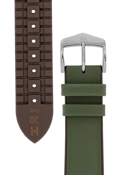 Watchband Arne calf leather + Premium Caoutchouc (Rubber) 18 mm