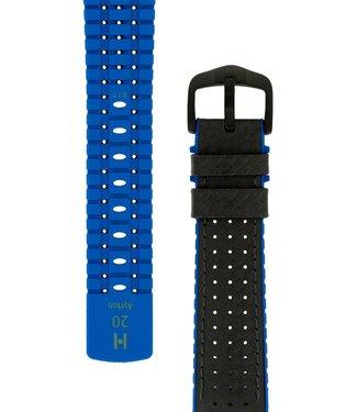 Hirsch Horlogebandje Ayrton Kalfsleer + Premium Rubber 20 mm