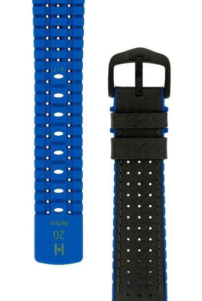 Watchband Ayrton calf leather + Premium Rubber 24 mm