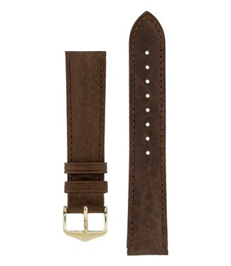 Hirsch Watch strap Camelgrain Pro Skin calf leather 17 mm