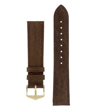 Hirsch Horlogebandje Camelgrain Pro Skin Kalfsleer 19 mm