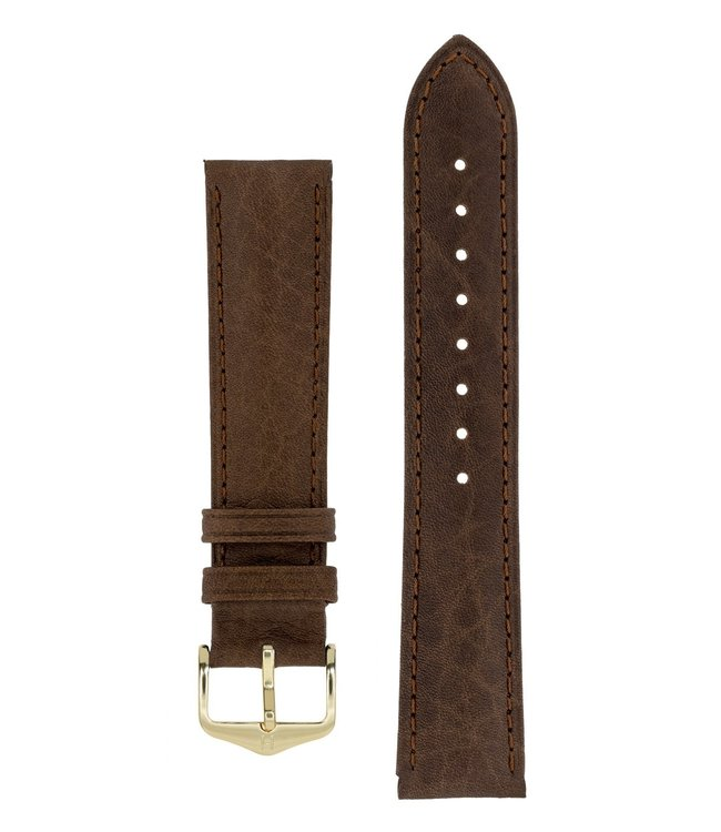 Hirsch Watch strap Camelgrain Pro Skin calf leather 19 mm