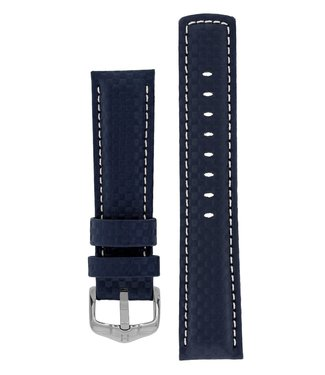 Hirsch Horlogebandje Carbon Kalfsleer 18 mm