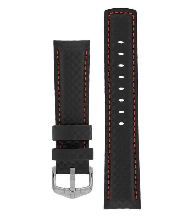 Horlogebandje Carbon Kalfsleer 18 mm