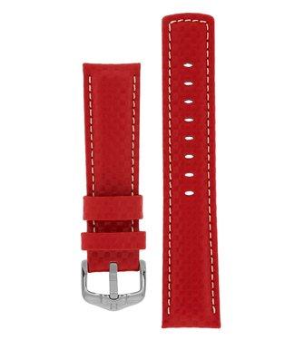 Hirsch Watchband Carbon calf leather 22 mm