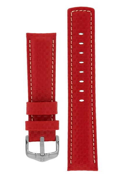 Watchband Carbon calf leather 22 mm