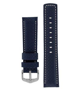 Hirsch Watchband Carbon calf leather 24 mm