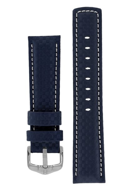 Watchband Carbon calf leather 24 mm