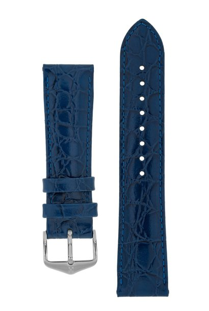 Watch strap Crocograin calf leather 16 mm