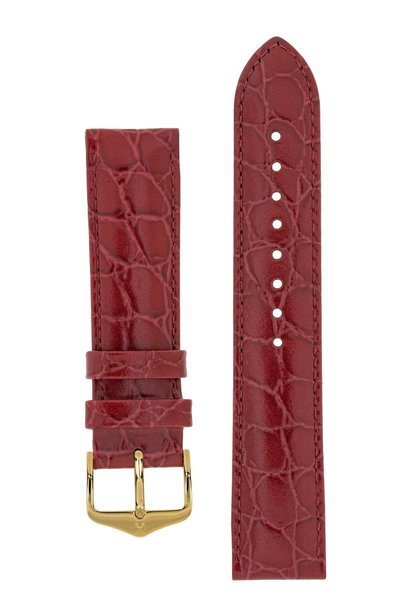 Watch strap Crocograin calf leather 17 mm