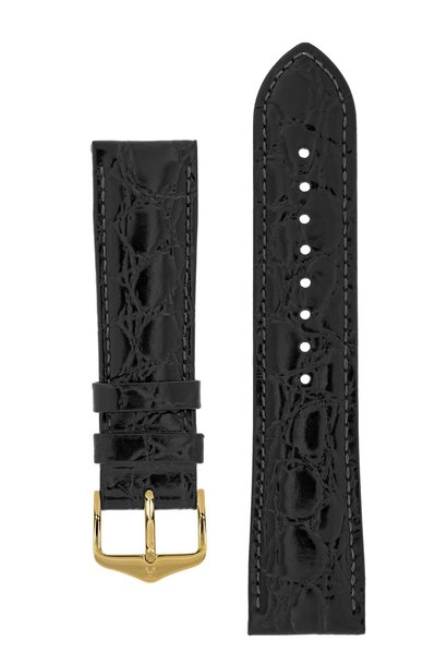 Watch strap Crocograin calf leather 19 mm