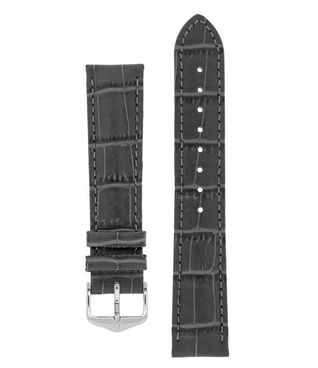 Hirsch Horlogebandje Duke Alligator embossed Kalfsleer 12 mm
