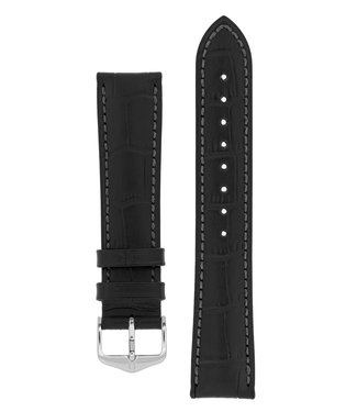 Hirsch Watch strap Duke Alligator embossed calf leather 15 mm