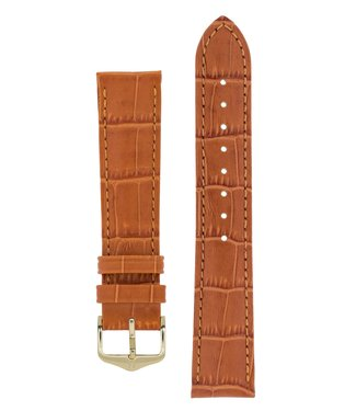 Hirsch Watch strap Duke Alligator embossed calf leather 19 mm