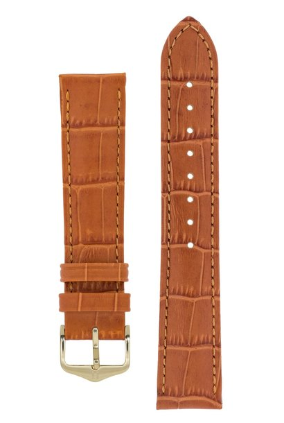 Watch strap Duke Alligator embossed calf leather 19 mm
