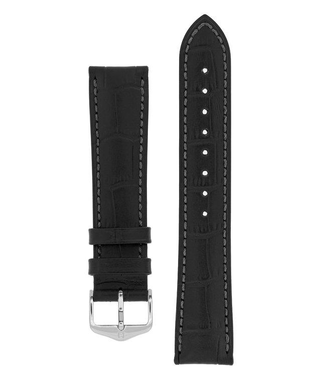 Hirsch Watch strap Duke Alligator embossed calf leather 21 mm