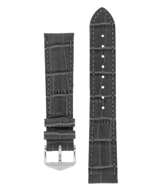 Hirsch Watchband Duke Alligator embossed calf leather 22 mm