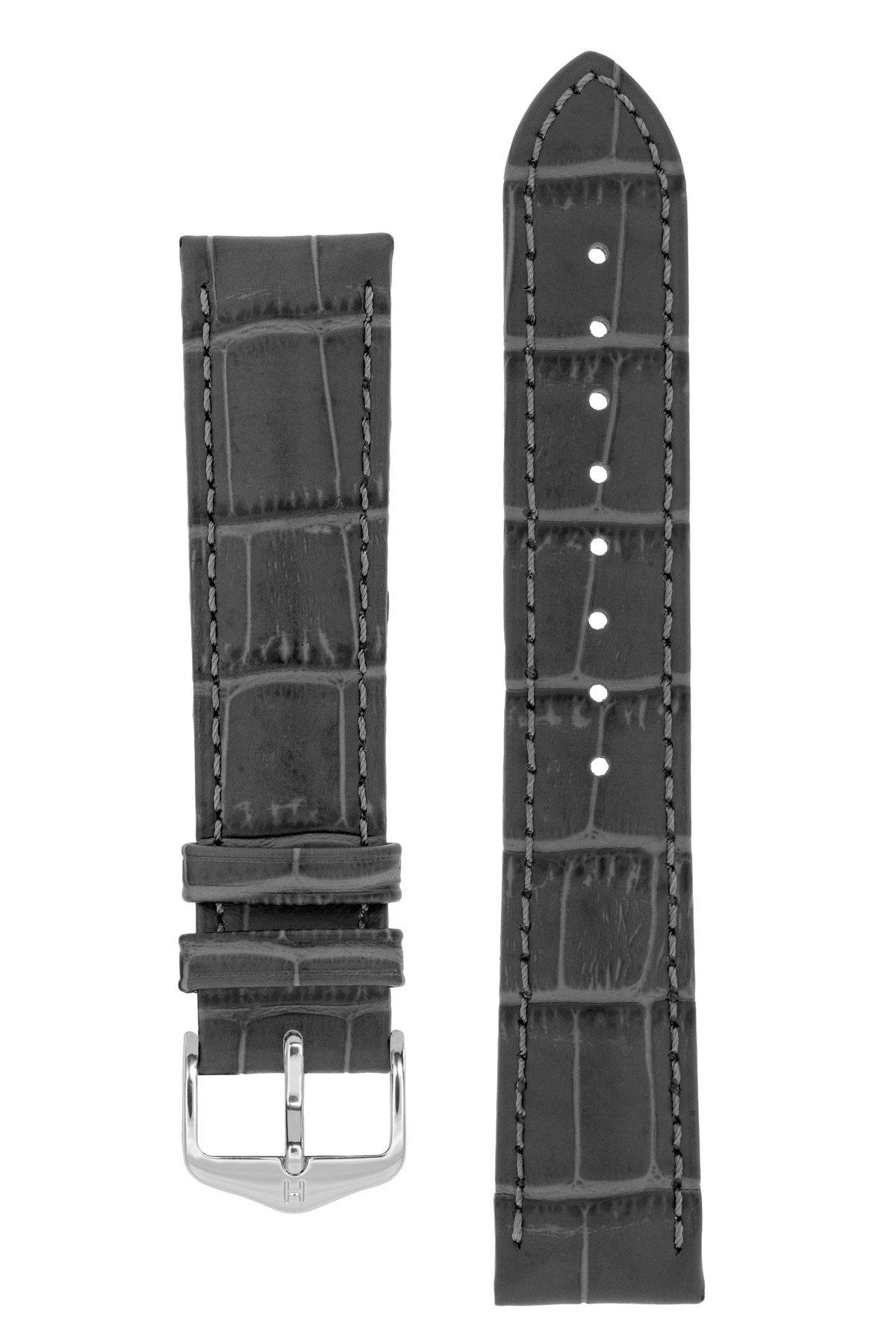 Horlogebandje Duke Alligator embossed Kalfsleer 22 mm-2