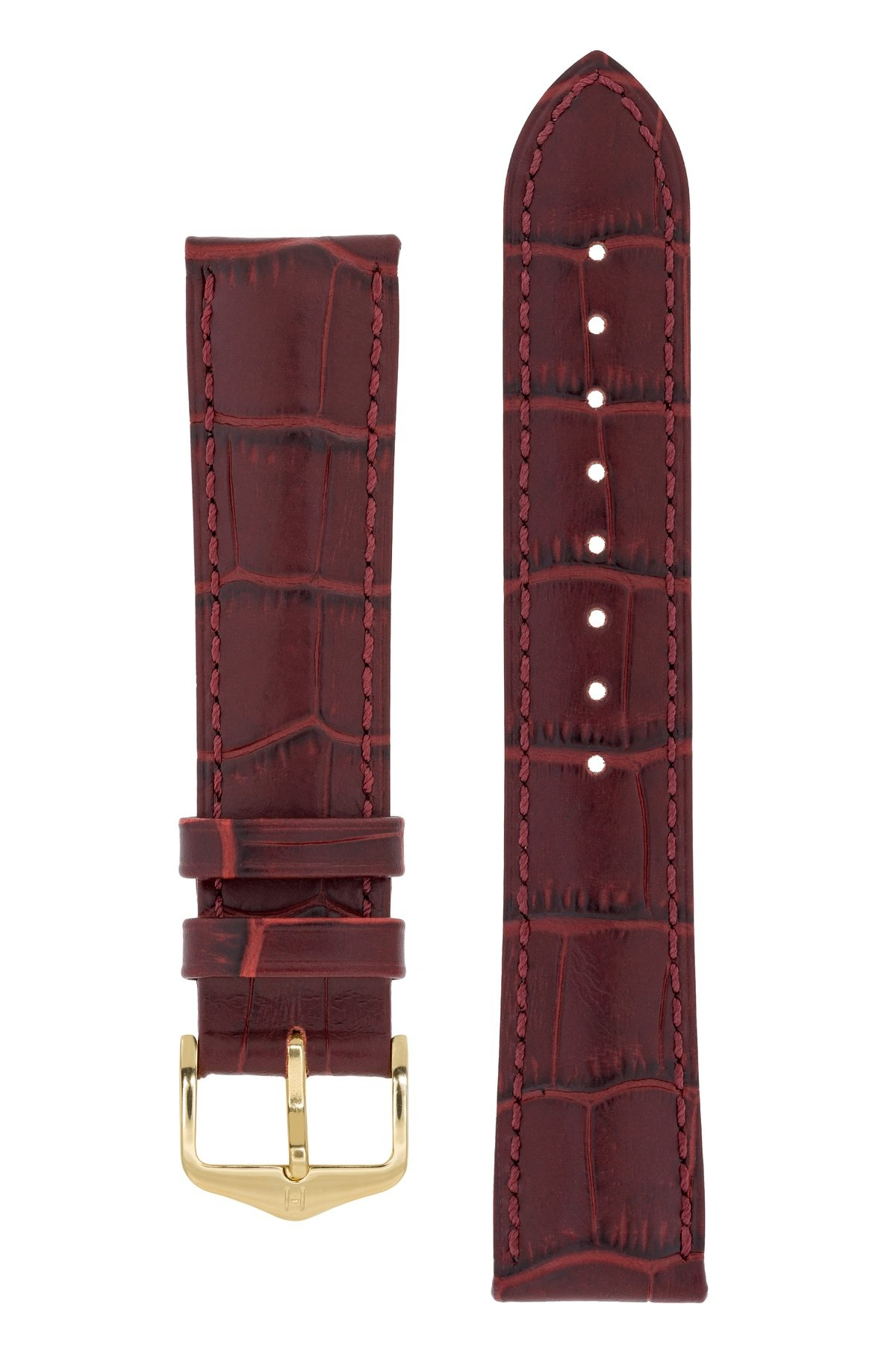 Horlogebandje Duke Alligator embossed Kalfsleer 22 mm-5