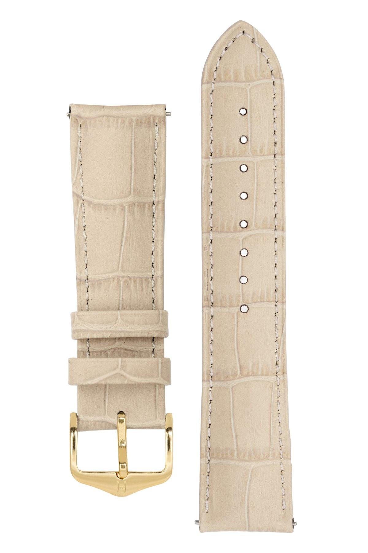 Horlogebandje Duke Alligator embossed Kalfsleer 22 mm-6