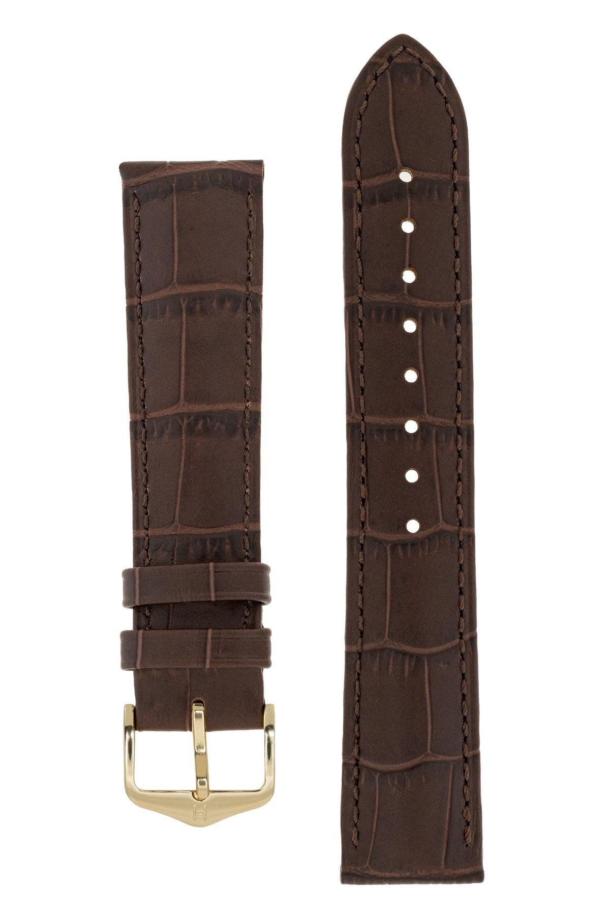 Horlogebandje Duke Alligator embossed Kalfsleer 22 mm-11