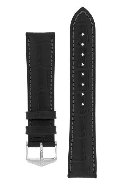 Watch strap Duke Alligator embossed calf leather 28 mm