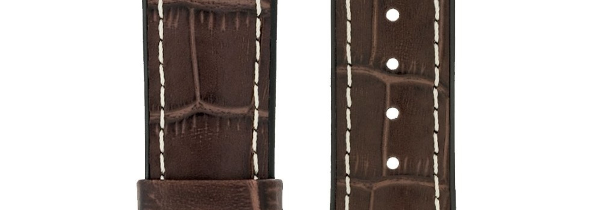 Watchband George calf leather + Premium Caoutchouc (Rubber) 20 mm