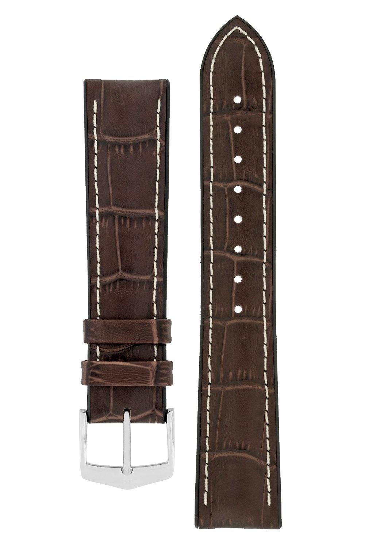 Watchband George calf leather + Premium Caoutchouc (Rubber) 20 mm-1