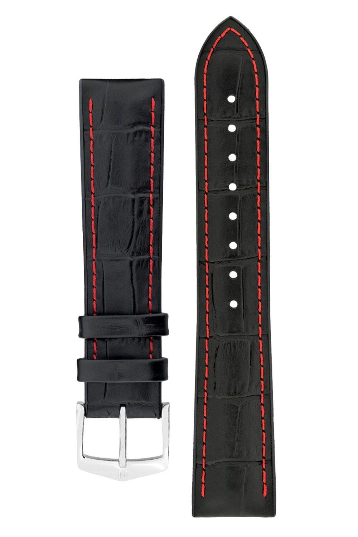 Watchband George calf leather + Premium Caoutchouc (Rubber) 20 mm-3