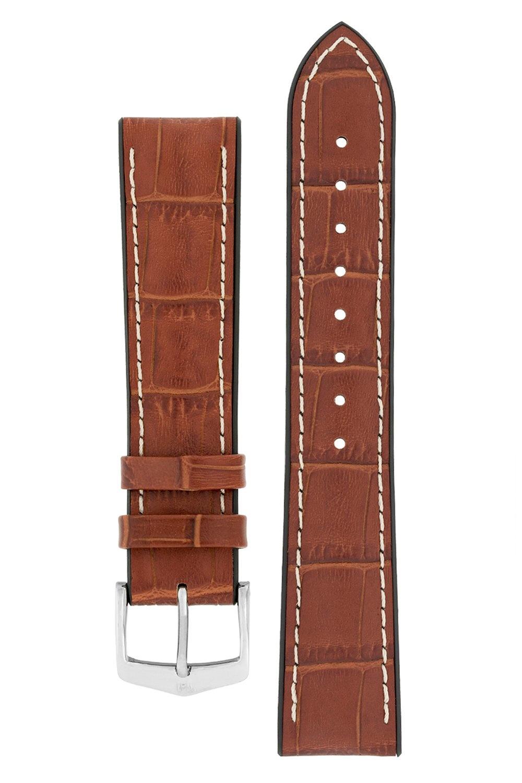 Watchband George calf leather + Premium Caoutchouc (Rubber) 20 mm-5