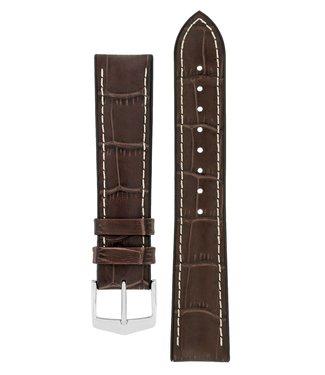 Hirsch Horlogebandje George Kalfsleer + Premium Caoutchouc (Rubber) 24 mm