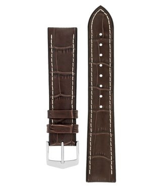 Hirsch Watchband George calf leather + Premium Caoutchouc (Rubber) 24 mm
