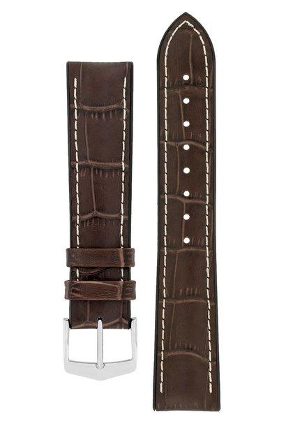 Watchband George calf leather + Premium Caoutchouc (Rubber) 24 mm