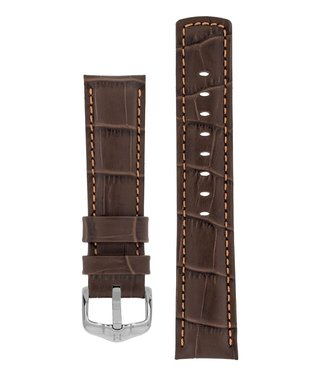 Hirsch Watchband Grand Duke, 100 m Water-Resistant, Alligator embossed calf leather 18 mm