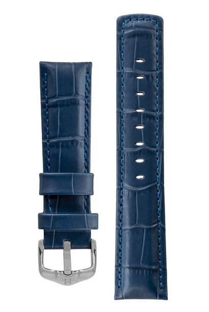 Watchband Grand Duke, 100 m Water-Resistant, Alligator embossed calf leather 24 mm