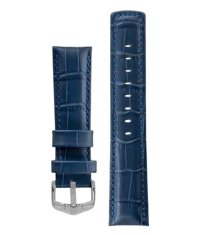 Horlogebandje Grand Duke, 100 m Water-Resistant, Alligator embossed Kalfsleer 24 mm