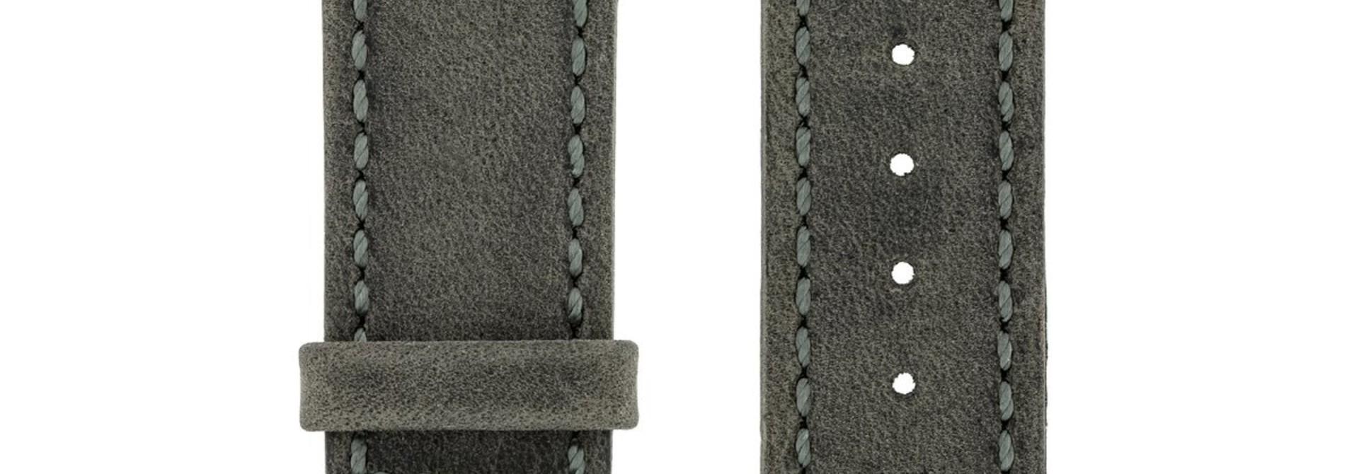 Horlogebandje Heritage, Artisan Leather Kalfsleer  22 mm