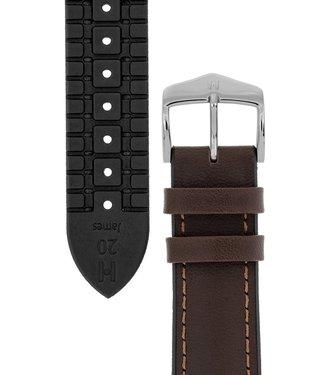 Hirsch Watchband James calf leather + Premium Caoutchouc (Rubber) 18 mm
