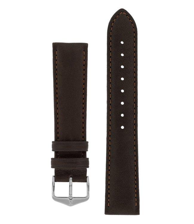 Hirsch Horlogebandje Merino, Artisan Leather Nappaschapenleer 14 mm