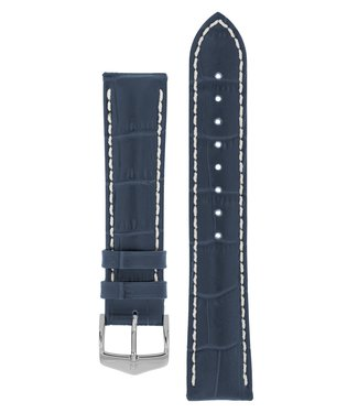 Hirsch Watchband Modena Alligator embossed calf leather  19 mm