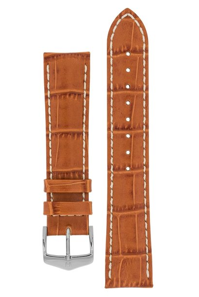 Watchband Modena Alligator embossed calf leather  20 mm