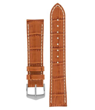 Hirsch Watchband Modena Alligator embossed calf leather  22 mm