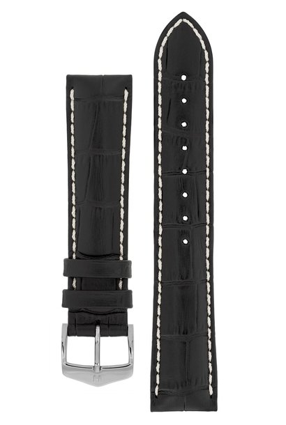 Watchband Modena Alligator embossed calf leather  24 mm