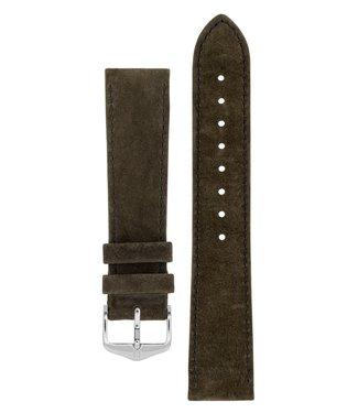 Hirsch Watchband Osiris calf leather Nubuk 18 mm