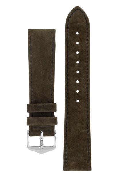 Watchband Osiris calf leather Nubuk 22 mm