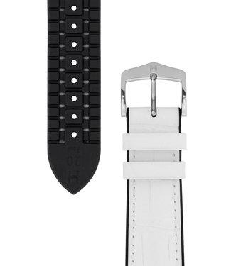 Hirsch Watchband Paul calf leather + Premium Caoutchouc (Rubber) 18 mm