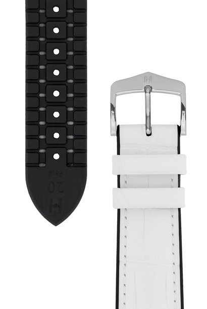 Watchband Paul calf leather + Premium Caoutchouc (Rubber) 18 mm