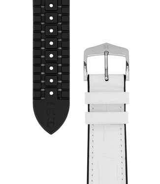 Hirsch Horlogebandje Paul Kalfsleer + Premium Caoutchouc (Rubber) 20 mm